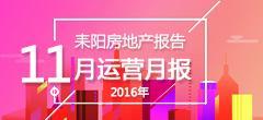 2016年11月份耒阳房地产数据月报